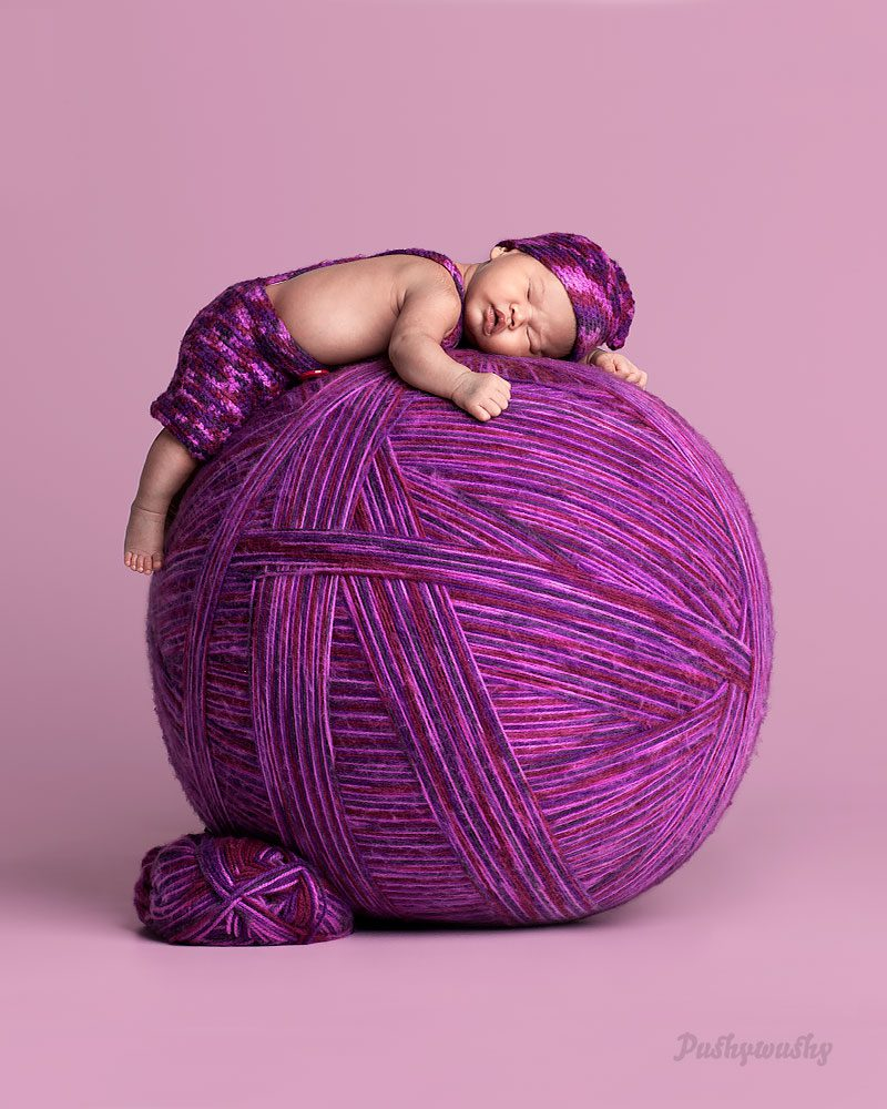 wool ball baby owen studio photographer castle hill sydney
