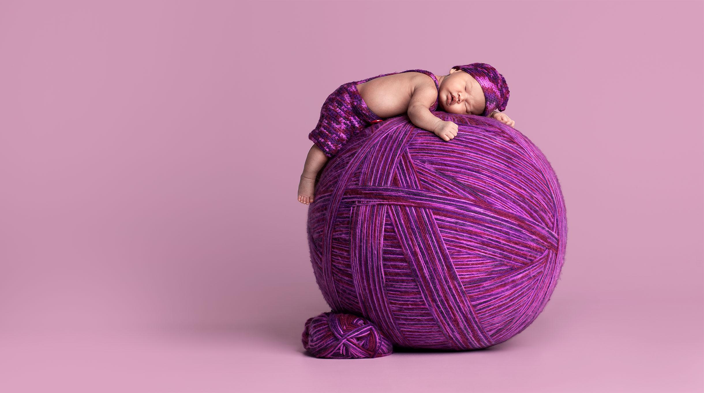 wool ball baby owen studio photographer castle hill sydney